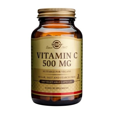 Солгар Витамин С капсули 500мг x100 (Solgar Vitamin C)