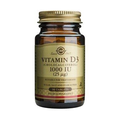 Солгар Витамин Д3 таблетки 1000IU (25мкг) x90 (Solgar Vitamin D)