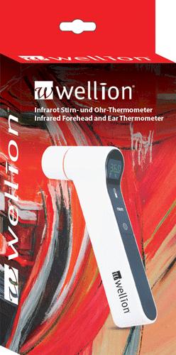 Инфрачервен безконтактен термометър Wellion