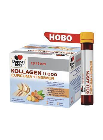 Допелхерц систем Колаген 11 000 Куркума + Джинджифил x30 флакона (Doppelherz Collagene 11 000 Куркума + Джинджифил)