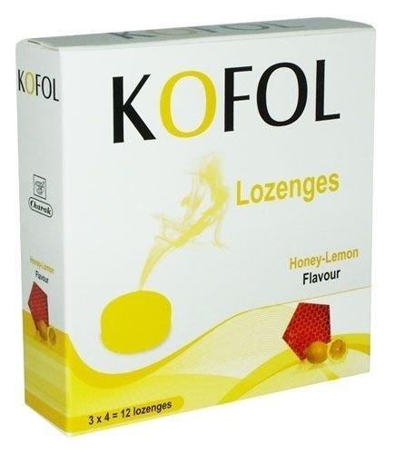 Кофол (Kofol) мед и лимон бонбони x12