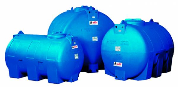Хоризонтален цилиндричен резервоар за вода CHO - 2000 L