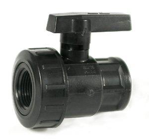 Сферичен PVC кран 1'' вътрешна резба