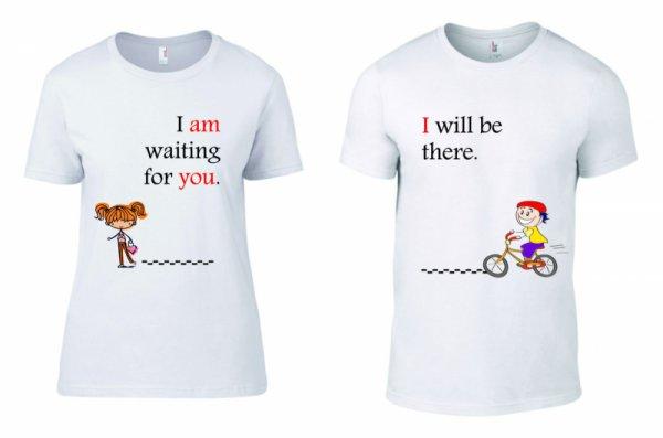 Тениски за двойки I am waiting for you