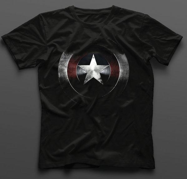 Тениска Captain America Shield K-M-353