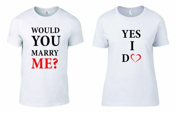 Тениски за двойки Marry me