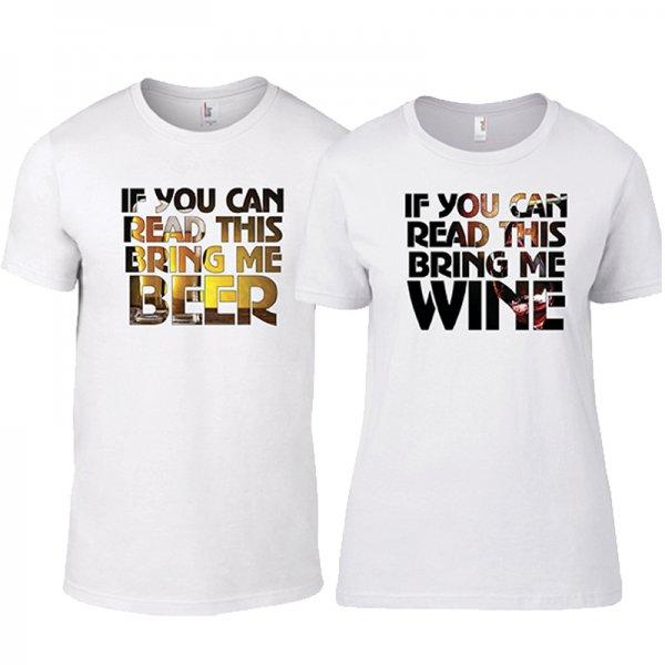 Тениски за двойки Drinking Family