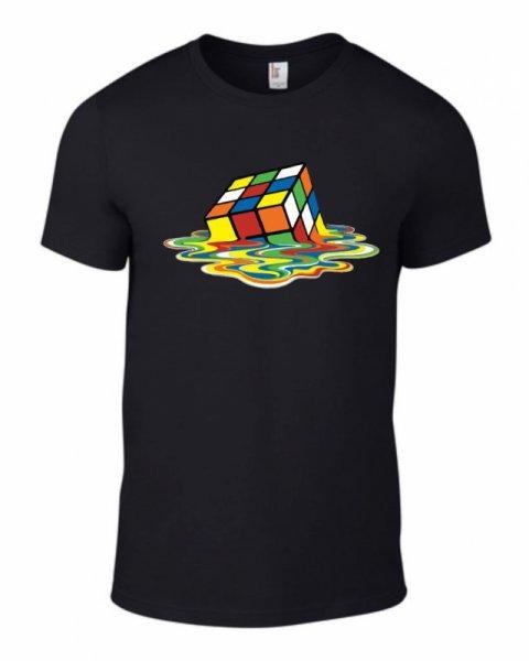 Тениска с разтапящо се кубче на рубик K-M-14
