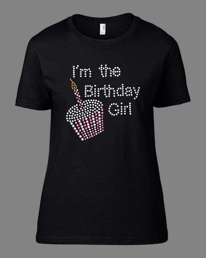 Тениска за рожден ден I am the birthday girl B-W-09