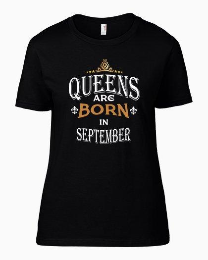 Тениска за рожден ден Queens Are Born B-W-04