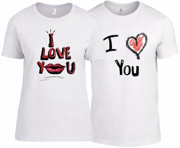 Тениски за двойки I Love You