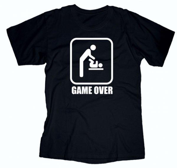 Тениска за бащи Game Over