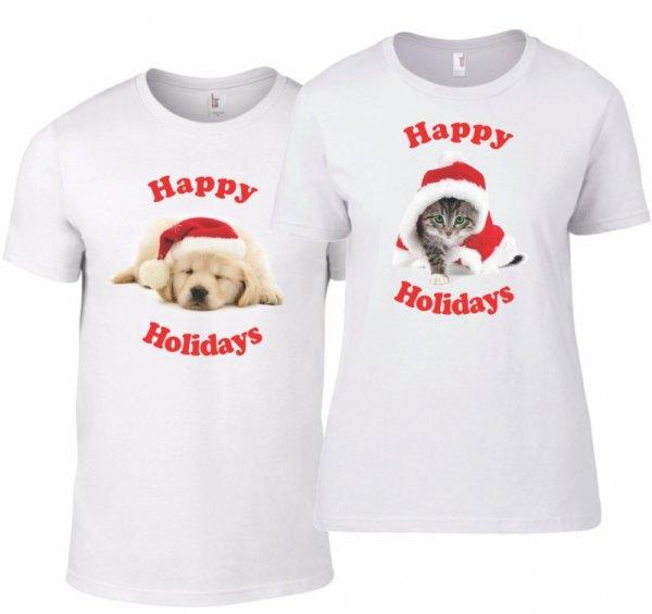 Тениски за двойки Весели празници