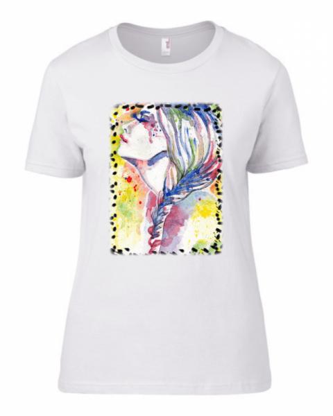 Дамска тениска Paint Woman 55d