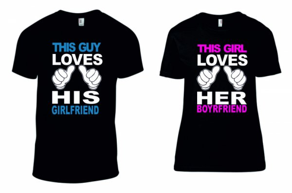 Тениски за двойки This Guy/Girl