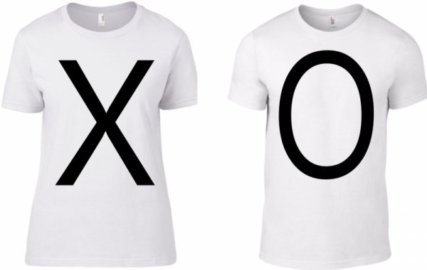 Тениски за двойки  XO I love you
