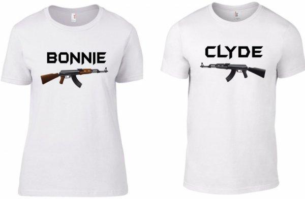 Тениски за двойки Bonnie and Clyde