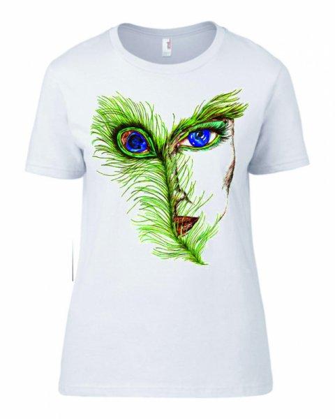 Дамска тениска с Паунови пера