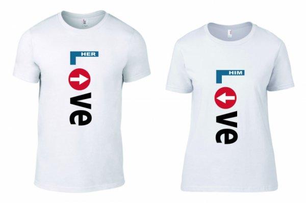 Тениски за двойки LOVE her/him