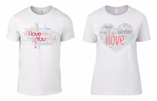 Тениски за двойки Love Words