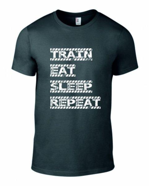 Тениска train eat sleep repeat