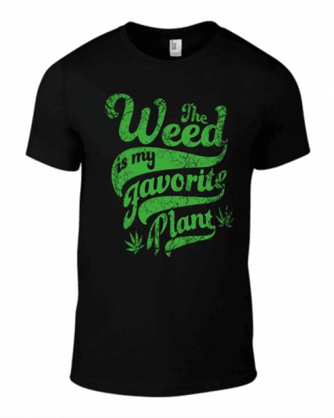 Тениска The weed favorite plant K-M-194