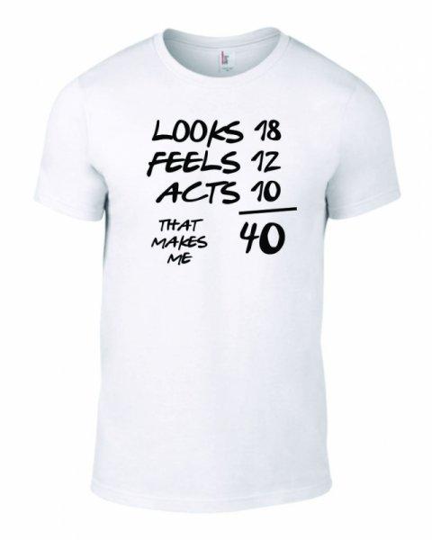 Тениска за рожден ден Looks-Feels-Like B-M-06