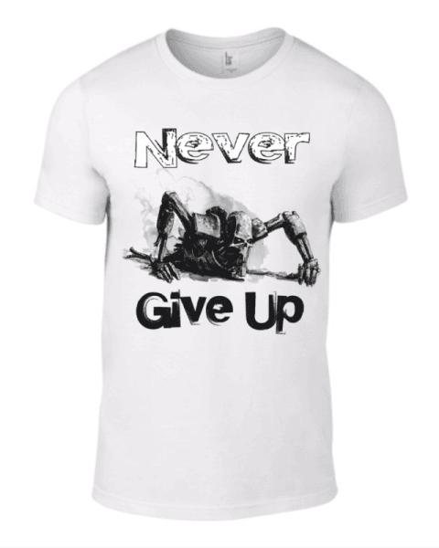 Тениска Никога не се предавай K-M-97