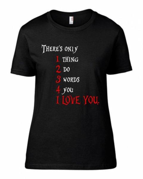 Тениска I love you