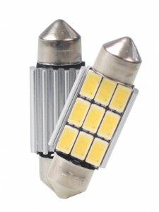 M-TECH LED C5W 36mm 9xSMD5630 CANBUS White комплект