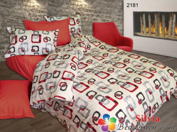 Спален комплект ранфорс Неда - червена