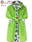 Детски халат Дино - зелен