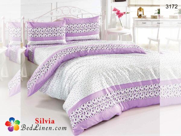 Спален комплект памук Сакар - лилав