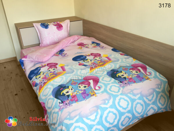 Детски спален комплект памук Искрица и Сияйница