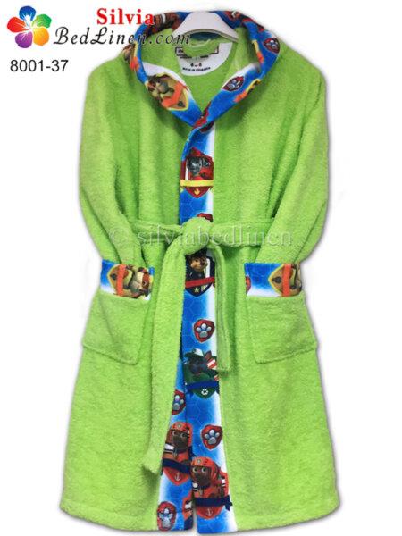 Детски халат Пес патрул - зелен