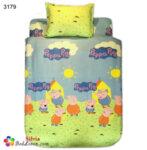 Детски спален комплект памук Прасето Пепа