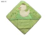 Квадратна кърпа за бебе с качулка Пате - зелена