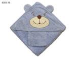 Квадратна бебешка кърпа с ушички Мече - синя