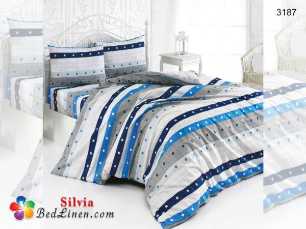 Спален комплект памук Балкан - син