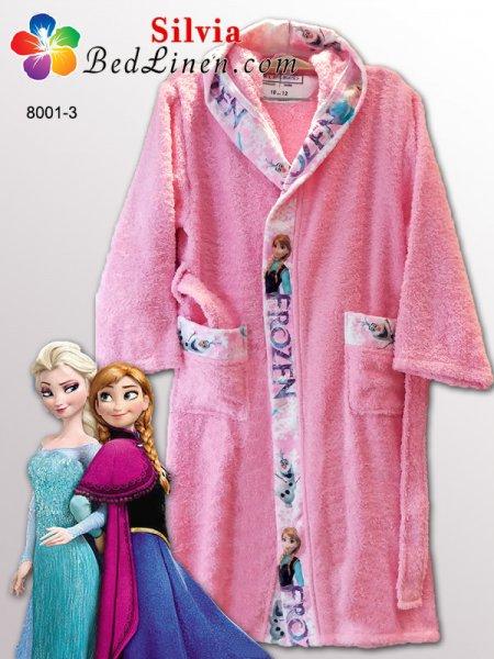 Детски халат Замръзналото кралство - розов