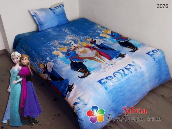 Детски спален комплект хасе Замръзналото кралство - син