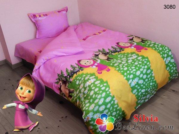 Детски спален комплект хасе Маша и Мечока