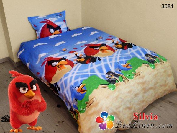 Детски спален комплект хасе Ядосаните пилета
