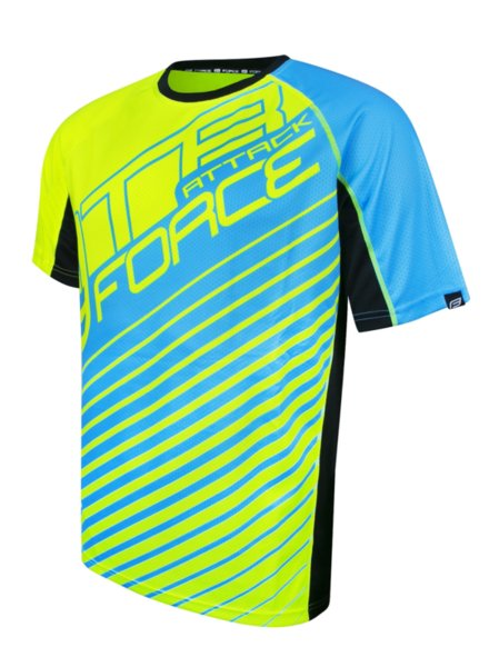 Тениска Force MTB Attack Fluo Blue