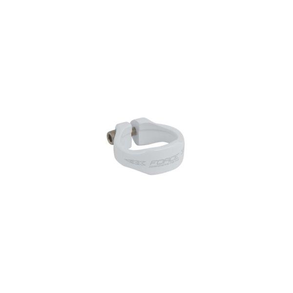 Бяла скоба за седло Force 34.9мм