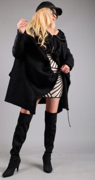 Впечетляващо ефектно палто