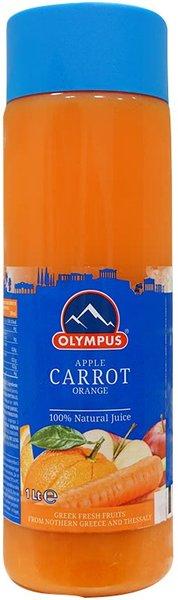 Натурален сок Морков, Ябълка, Портокал 100% Olympus 1л