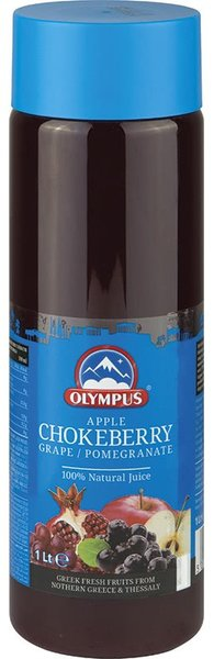 Натурален сок Арония, Ябълка, Грозде, Нар 100% Olympus 1л