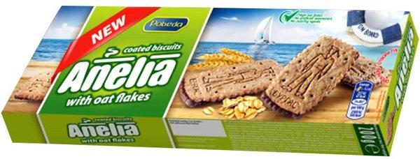 Бисквити с овесени ядки и шоколад Анелия 200 г