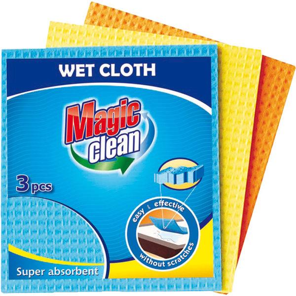 Почистващи мокри кърпи Magic Clean 3 бр